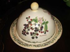 COLLECTABLE DUNOON STONEWARE SCOTLAND NATURE TRAIL CHEESE DOME & PLATTER